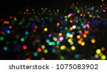 bokeh lights for party  holiday ... | Shutterstock . vector #1075083902