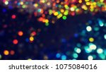 bokeh lights for party  holiday ... | Shutterstock . vector #1075084016