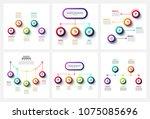 vector gradient infographic and ... | Shutterstock .eps vector #1075085696