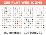 flat web icons | Shutterstock .eps vector #1075086272
