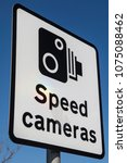 A Speed Cameras Sign Over A...