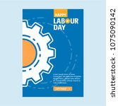 happy labour day design with... | Shutterstock .eps vector #1075090142