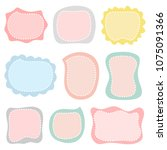 cute note papers  template for...   Shutterstock .eps vector #1075091366