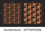 laser cutting interior set....   Shutterstock .eps vector #1075093286