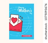 mother's day sale poster or... | Shutterstock .eps vector #1075093676