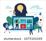 content strategy marketing...   Shutterstock .eps vector #1075101035