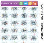 commerce icon vector design   Shutterstock .eps vector #1075110098