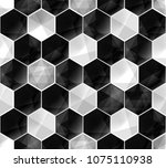 black and white abstract... | Shutterstock .eps vector #1075110938