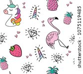 seamless repeating pattern...   Shutterstock .eps vector #1075119485