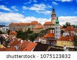 view of ceski krumlov castle ... | Shutterstock . vector #1075123832