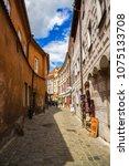 beautiful street in ceski... | Shutterstock . vector #1075133708