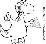 black and white illustration of ... | Shutterstock .eps vector #1075143878
