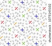 mathematical symbol seamless...   Shutterstock .eps vector #1075145102