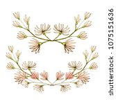 beautiful flower frame vector... | Shutterstock .eps vector #1075151636
