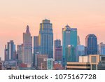 view of kansas city skyline in... | Shutterstock . vector #1075167728
