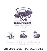 Old Truck  Farmer's Logo ...