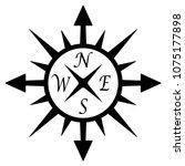 compass rose vector on an... | Shutterstock .eps vector #1075177898