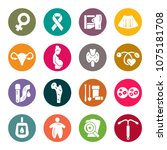 woman's health icon set | Shutterstock .eps vector #1075181708