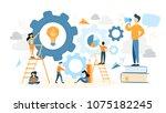 system building illustration.... | Shutterstock .eps vector #1075182245