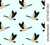 vector seamless pattern with... | Shutterstock .eps vector #1075187282