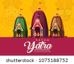 lord jagannath puri odisha god... | Shutterstock .eps vector #1075188752