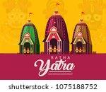lord jagannath puri odisha god...   Shutterstock .eps vector #1075188752
