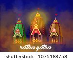 lord jagannath puri odisha god... | Shutterstock .eps vector #1075188758