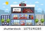 cinema city building interior... | Shutterstock .eps vector #1075190285