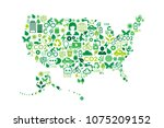 usa map environmental... | Shutterstock .eps vector #1075209152