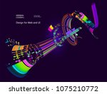 abstract vector background dot... | Shutterstock .eps vector #1075210772