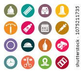 contraception methods icon set | Shutterstock .eps vector #1075211735