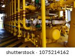 gas processing platform. | Shutterstock . vector #1075214162