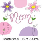 mothers day mom lettering | Shutterstock . vector #1075216196