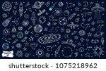 space doodles set. astronomy....   Shutterstock .eps vector #1075218962