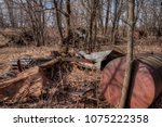 an old neglected farm and... | Shutterstock . vector #1075222358