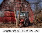 an old neglected farm and... | Shutterstock . vector #1075223222