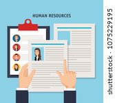human resources set icons   Shutterstock .eps vector #1075229195
