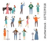 musician persons in different... | Shutterstock .eps vector #1075229318