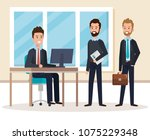 resources human office company... | Shutterstock .eps vector #1075229348