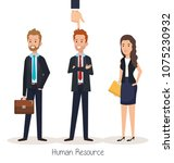 group of people human resources | Shutterstock .eps vector #1075230932