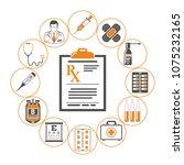 medicine and healthcare...   Shutterstock .eps vector #1075232165