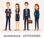 business people group avatars... | Shutterstock .eps vector #1075233365