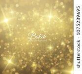 golden falling glittering dust  ... | Shutterstock .eps vector #1075239695