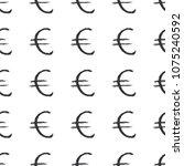 euro sign icon brush lettering...   Shutterstock .eps vector #1075240592