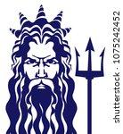 poseidon neptune vector... | Shutterstock .eps vector #1075242452