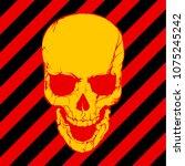 vector skull danger sign   Shutterstock .eps vector #1075245242