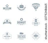 convenience food logo set.... | Shutterstock .eps vector #1075248665