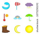 moderate climate icons set.... | Shutterstock .eps vector #1075250192