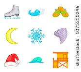 temperate climate icons set.... | Shutterstock .eps vector #1075250246