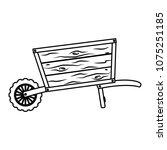line handcart vehicle to cargo... | Shutterstock .eps vector #1075251185
